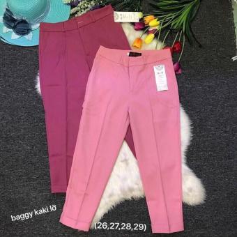 combo 2 quần baggy kate lửng(hồng nhạt-hồng đậm)