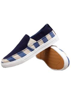 Giày Lười Viền Sọc ZOMA S1014 (Xanh)