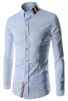Reverieuomo CS41 Single-Breasted Shirt Blue (Intl)