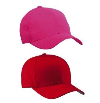 Bộ 2 mũ lưỡi trai trơn cá tính My Style GT 247 (Đỏ+ Hồng)