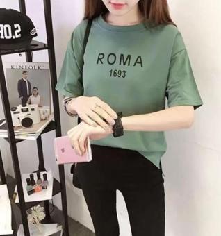 ÁO THUN NỮ form rộng ROMA (xanh)