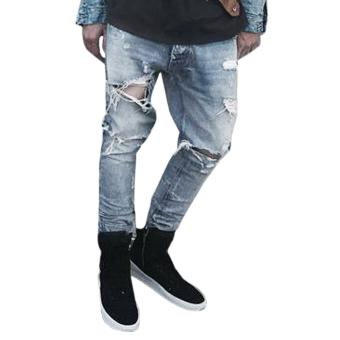 Mens Straight Slim Denim Pants (Intl) - intl