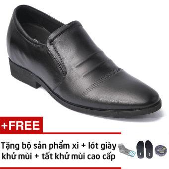 Giày Lười Da Lịch Lãm Smartmen GL 121 (Đen) + Tặng Bộ Xi, Lót Giày Và Tất Khử Mùi