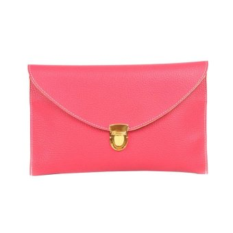 niceEshop Fashion Women Leather Handbag Shoulder Chain Bags Envelope Clutch Crossbody Satchel Purse ,Watermelon Red - intl