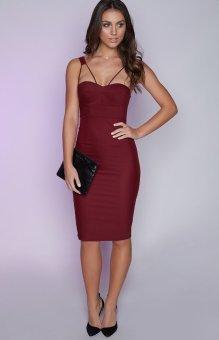 YOINS Sexy Splited Sleeveless Midi Dress - intl