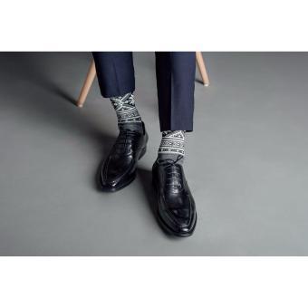 Giày da nam Laforce da trơn bo viền chỉ nổi GNLA101-22-D