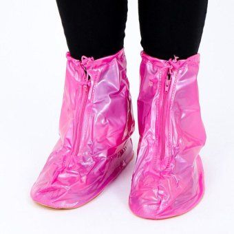 Giày đi mưa cao gót (Hồng)