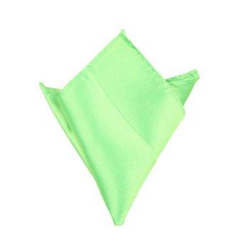 Fancyqube Multicolor Men Wedding Solid Pocket Square Handkerchief Hanky Accessory Light Green - Intl