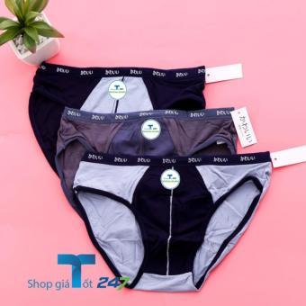 03 quần lót tam giác xuất Nhật cotton mềm mịn cao cấp (Vỏ bạc)