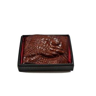Ví nam da cá sấu móng tay Gia Huy GH-S112-3 (nâu đỏ)