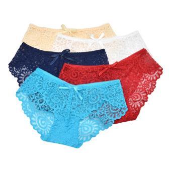 Bộ 10 quần lót ren lưới hoa Akio