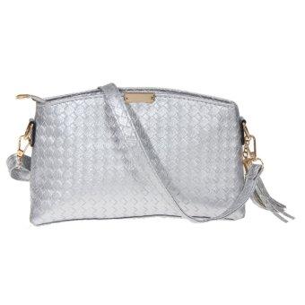 Fashion Women Leather Satchel Handbag Shoulder bag (Silver) - Intl