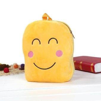 Cute Emoji Emoticon Shoulder School Child Bag Backpack Satchel Rucksack Handbag - intl