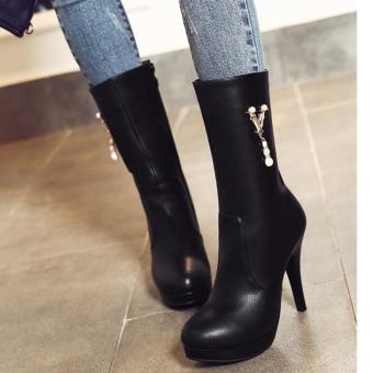 Giày boot nữ cổ cao phong cách cá tính B051