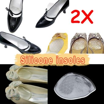Silicone Gel Elastic Cushion Insoles Protect Comfy Feet Palm Care Shoe Pad Pads - intl