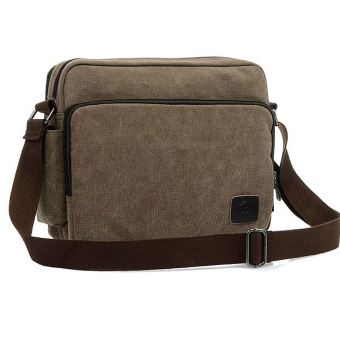 Multi-function Leisure Briefcase Men's Messenger Shoulder Bag Coffee