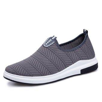 2017 Men Casual Shoes Summer Breathable Mesh Super Light Flats Shoes - intl