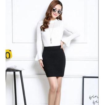 Chân váy nữ văn phòng TITISHOPVN CV10 ( Đen )