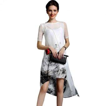 Đầm suôn dự tiệt họa tiết Beyeushop- BY8027
