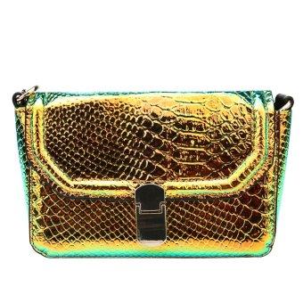 Vakind Hot Vintage Chain PU Leather Women Crossbody Bag(Green) - intl