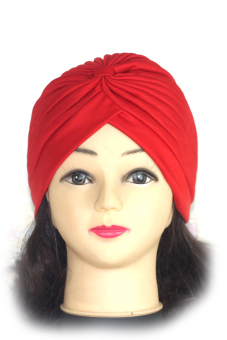Polyester Turban Sun Cap Hat Red (Intl)