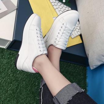 Giày sneaker nữ màu trắng gót hồng TT161