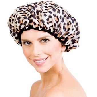 Mũ chùm đầu có chun co dãn khi tắm LD026 - Họa tiết da báo
