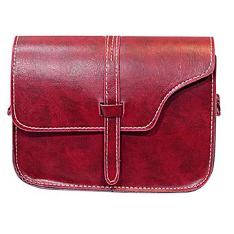 Women Faux Leather Handbag Shoulder Bag Messenger bags(red)