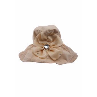 Mũ Vải Vành Rộng Vừa Phải Màu Hồng SALOME FASHION