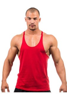 LALANG Fitness Sports Vest Tank Top Undershirt Red - intl
