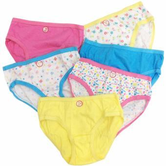 Bộ 6 quần lót - quần chíp bé gái cotton Thái Lan-MS02