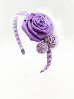 Cài tóc hoa hồng tím HD3534