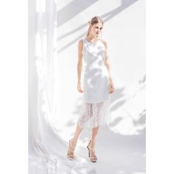 Đầm dự tiệc sang chảnh Xavia Clothes Elsa (Trắng)
