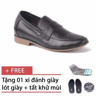 Giày lười tăng chiều cao SMARTMEN GL-223 (Đen) + Tặng 1 hộp xi + 1 lót giày khử mùi + 1 đôi tất khử mùi
