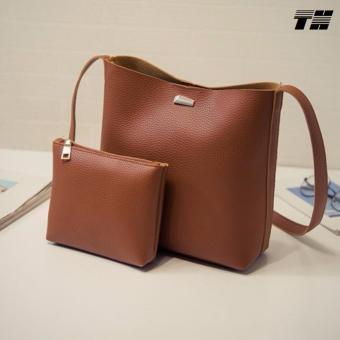 Bộ túi ví thời trang màu nâu THCB40