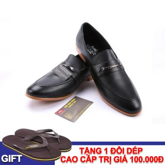 Giày tây nam công sở da thật Da giày Việt Nam VNL1AZ803D-1 + Tặng 01 đôi dép