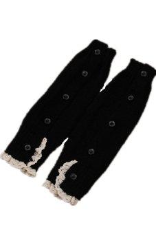 Lalang Kneepad Legs Stockings Black - intl