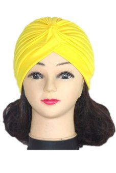 Lalang Adult Unisex Fashion Scarf Hat Yellow
