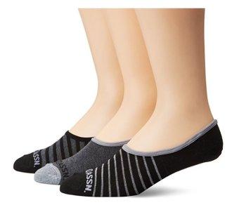 Bộ 3 đôi tất nam U.S. Polo Assn. Men's 3 Pack Sole Brand Liner Sock (Đen/Xám) (Mỹ)