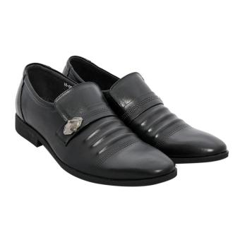 Giày nam da bò cao cấp màu đen ESM38