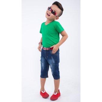 Quần lửng bé trai Ugether UKID158 (Xanh jeans đậm)