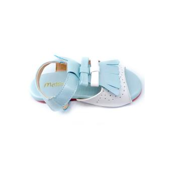 Giày sandal tua rua Mattino (Xanh)