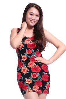 Đầm xẻ lưng Haruchan (Đỏ)