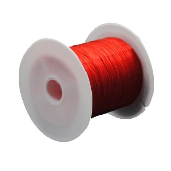 Moonar 3 Rolls 10M Strong Stretchy Elastic Cord String Strand DIY Craft 0.6mm (Red) - intl