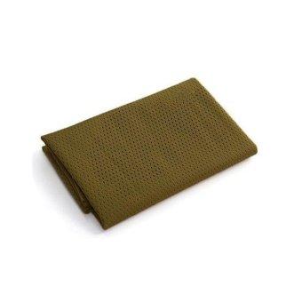Unisex Men Camouflage Army Hunt Mesh Breathable Scarf Wrap Mask Face Veil Khaki - Intl