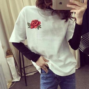 Áo thun nữ Minh Khoa hoa hồng(trắng)