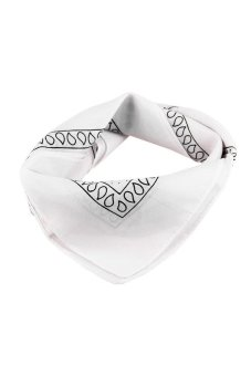 HKS 54cm x 54cm Unisex Cotton Bandana Headwear Head Wrap Scarf Neck Wrist Band Head Tie White - intl