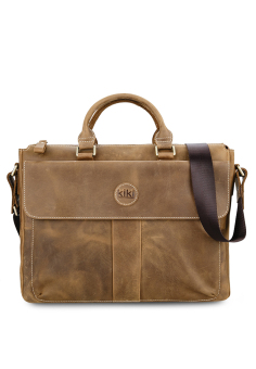 Túi laptop da thật KIKI Bags K01 (Nâu)