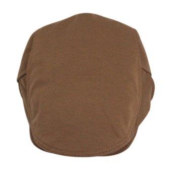 Beret Peaked Cap Brown