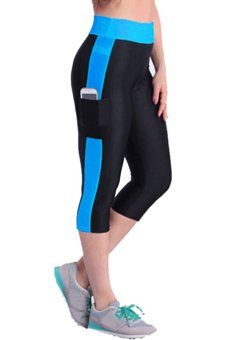 LALANG Leggings (Black/Blue) - Intl